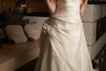 Abito da sposa in organza di pura seta