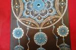 Acchiappa sogni - Mandala su tela sfondo nero