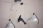 Acchiappasogni con delfini realizzati con gomma crepla