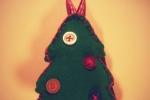 Addobbo natalizio alberello in pannolenci
