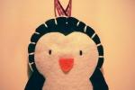 Addobbo natalizio pinguino pannolenci