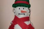 Addobbo natalizio pupazzo di neve in pannolenci