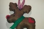 Addobbo natalizio renna in pannolenci