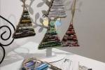 Alberelli realizzati con cannucce di carta