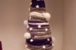 Alberelli di Natale centrotavola in ciniglia