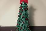Alberello di Natale alto 24 cm in gomma eva e polistirolo