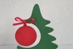 Alberello natalizio in legno dipinto a mano