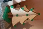 Alberi natale tridimensionali fatti a mano con stuzzicadenti