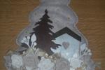 Albero fuoriporta imbottito in feltro fondo beige