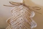 Albero Natale uncinetto fatto a mano cotone decori casa ide