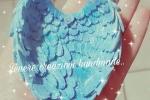 Ali e farfalla in polvere di ceramica