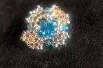 Anelli Cristalli bianchi e azzurri