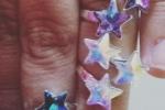 Anello in argento 925 regolabili con stelle Swarovski.