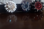 Anello realizzati a mano con perline cabochon in cristallo