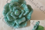Anello a rosa verde glitter