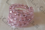 Anello a spirale rosa