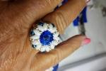 Anello con tessitura di perline e incastonatura di cristallo swarovski