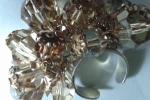 Anello con palline swaroski light topaz