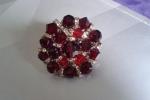 Anello con pietre swaroski colore rosso