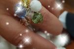 Anello fatto a mano con pietre  swarovski a grappolo