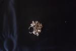 Anello con sfere gold light swarovski