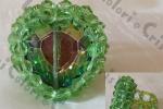 Anello cuore cristallo verde