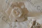 Anello fiore bianco