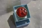 Anello regolabile con iniziale bagnato in bronzo