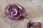 Anello rosa lilla