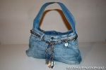 Ann: borsa in denim con cinta in rafia