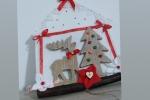 Appendino natalizio in legno e pannolenci