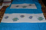 Asciugamani ricamati in cotone