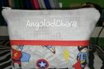 Astuccio pochette per bambino con tela aida ricamabile