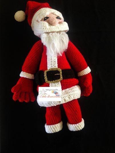 Babbo Natale Amigurumi Fatto all'Uncinetto, Idea Regalo Natale ... | 537x403