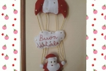 Babbo Natale con paracadute in pannolenci