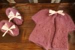 Babbucce bimba più giacchina in lana Mohair