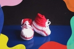 Baby Converse rosse in cotone