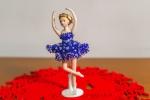 Ballerina in Porcellana con Vestito in Perline