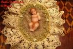 Bambinelli Gesu' di cera interamente realizzati a mano
