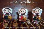 Bambola ciociara souvenir in pannolenci