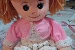 Bambola di pezza fatta a mano bigotta