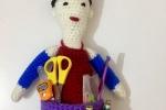 Bambola porta oggetti, amigurumi