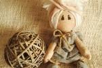 Bambola seduta, nascita, mamma, decorazione