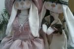 Bambola in stoffa vestitino rosa