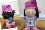 Bambolina sveglia realizzata a mano in gomma