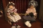 Bamboline a tema realizzate interamente a mano