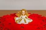 Bamboline in Porcellana con Vestito in Perline 8 cm