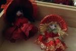 Bamboline natalizie segnaposto o gadget