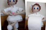 Bamboline realizzate in gomma eva