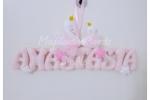 Banner nome Personalizzabile con Cigni Decorazione Cameretta Fuoriporta